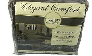 """Elegant Comfort Quilted Chocolate Chair Cover Microfiber 65"""" x 75.5"""""""