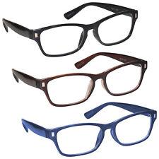 Multi Colour 3 Packs Mens Womens Reading Glasses UV Reader RRR77