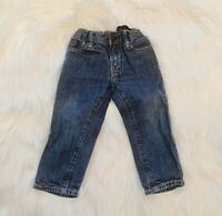 Baby Gap Blue Jeans Sz 2 Years Toddler Straight Leg Medium Wash Adjustable Waist