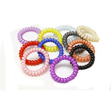 5*Women Headdress Hair Accessories Hair Ring Rope Candy Colored Telephone Wire