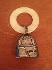 Vintage Sterling Silver Baby Rattle August 28 1955 w Baby Weight DOB & Time Dec.