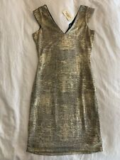 New Forever 21 Womens Gold Bodycon Dress Size M Medium