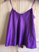Púrpura Satén Cami De George Talla 10