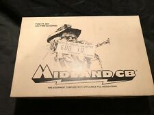 Vintage Midland 77-861 Portable Cb Radio W/Case 40 Channel - New Old Stock!