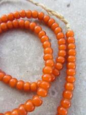 Heart' Beads [60917] African Orange 'White