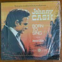 "Johnny Cash ""Born To Sing"" Feat. Jeannie C. Riley 5 LP Box Set Longines VG+ / NM"