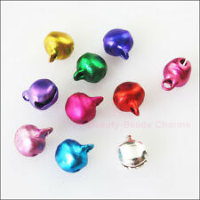 60Pcs Aluminum Mixed Christmas Bell Charms Pendants 8mm