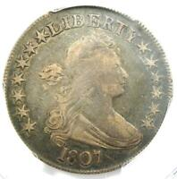 1807 Draped Bust Half Dollar 50C Coin - Certified PCGS VF Details!