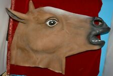 Horsehead HORSE latex mask ADULT sized role-play