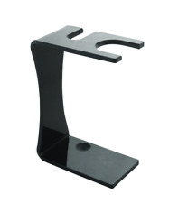Col. Conk Black Acrylic Safety Razor & Brush Stand, New, Fast Shipping