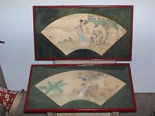 Two old asian painting. Deux anciennes peintures asiatique