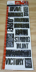 Colorbok XY&Z Adhesive Foil Foam Embellishments Silver Impact Free Ship Over $15