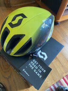 Scott Cadence Plus Helmet Small Radium Yellow/Dark Grey