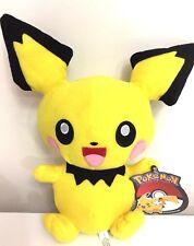 "Rare Pokemon PICHU Plush Large 12"" Doll Stuffed Toy 2018. New. Licensed. USA"