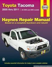 2005-2011 Toyota Tacoma Haynes Repair Manual book Owners shop Service