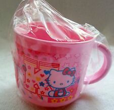 Hello Kitty Gift Cup Pink Favor Sanrio Plastic Handle Party Favor Girl Tumbler *