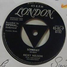 "Ricky Nelson(7"" Vinyl 1958 1st Issue)Someday-London-HLP 8732-UK-Ex/Ex"