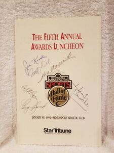 RARE 1991 MN Sports HOF Awards Luncheon Program, Herb Brooks AUTOGRAPH +5 MORE!