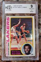 1978 Topps Basketball Kareem Abdul-Jabbar #110 BCCG 9 Los Angeles Lakers