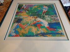 Signed Leroy Neiman Lithograph Mixed Doubles Framed Connors Everet King Newcombe