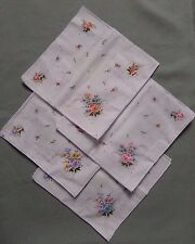 Ladies White Floral Poly Cotton Handkerchiefs Hankies Pack of 8 or 16 8