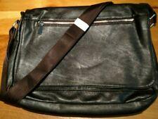 Dark Brown Messenger / Commuter Bag - Faux Vintage Leather - Unisex  14 x 10 x 2