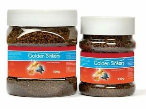 GOLDEN SINKERS - Pellet Food For Fantails, Orandas, Moors & other fancy goldfish