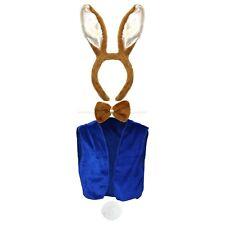 Kids World Book Day Peter Rabbit Fancy Dress Set (Ears, Bowtie, Tail, Waistcoat)