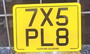 """7""""x 5"""" Blank Plate Kids Motorbike Motor Cycle Novelty plate Number Plate + Gift"""