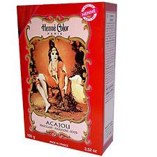 6 X henna Tintura de cabello color caoba Henne Paris Negro firday ofertas RRP £ 32.99
