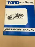 "Ford New Holland 38"" mower attachment 12 HP Lawn Tractor Operators Manual Owners"