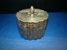 Silver Plated Keepsake Container - Pinapple Knob - Used - Very Nice