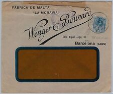 SPAIN-  POSTAL HISTORY - COVER to FRANCE with nice postmark: BARCELONA TRAMVIAS