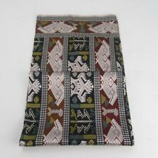 Beautiful Long Rectangular 100% Silk Scarf w/ Colourful Geometric Pattern Design