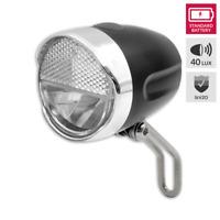 LED Fahrrad Scheinwerfer LYNX Batterie Scheinwerfer m Halter 40 Lux StVZO 01521