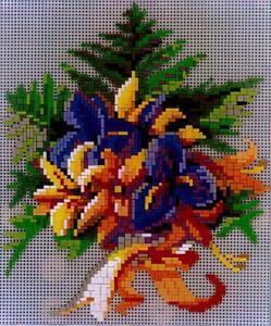 Mini Stecksystem Blumenstrauß Motiv 5 ca. 1.900 Teile mit XXL-Steckvorlage