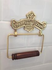 QUALITY VINTAGE ANTIQUE STYLE ST. PANCRAS SOLID BRASS TOILET ROLL HOLDER