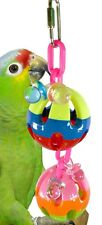 1203 DUO BALL BIRD TOY parrot cage toys cages african grey amazon conure plastic