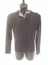 Maglione Roberto Cavalli,seta cotone cacherime ,colore grigio, tg 46