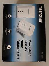TRENDnet TPL-406E2K Powerline 500 AV Nano-Adapter-Kit