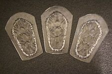 LOT 3 VINTAGE STAINED GLASS EMBOSSED EMBELLISHMENTS SUPPLIES ART NOUVEAU