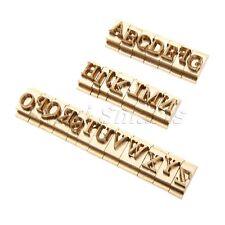 26pcs/Set  Brass Alphabet Letter Font Stamp Mold Leather Craft Seal Tool