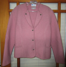 Strick Meister Pink Wool Sweater Coat Blazer Size 40 Made in Austria