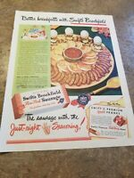 1947 Vintage Ad Swifts Brookfield Pure Pork Sausage Print Ad.