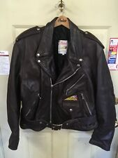 Mens Indian Motorcycle Classic Jacket XL; Beautiful Brown leather