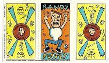 Peewee Playhouse Card Pee Wee Herman # 3 Topps 1988 Foldies Randy Yvonne Cat