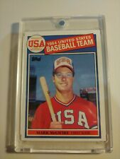 Mark McGwire Topps 1985 RC USA 1984 Baseball Team Rookie Card #401 Oakland A's