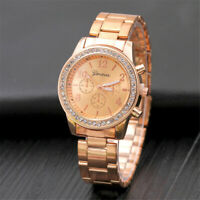 Women Crystal Bracelet Stainless Steel Watch Analog Quartz Luxury Wrist Watches