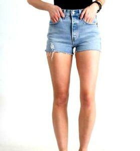 Levi's Jeans 501 High Rise Denim Shorts in Tango Light Wash Size 30 (9889)