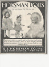 """1930 """"RARE"""" HORSMAN DOLLS DOLLY ROSEBUD PEGGY & BABY DIMPLES MAGAZINE AD 4&1/2x5"""